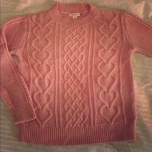 Gently worn Crewcuts pink cotton sweater